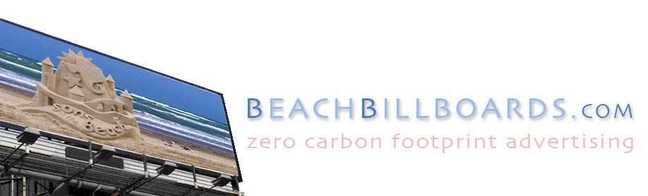 beach billboards zero carbon footprint advertising